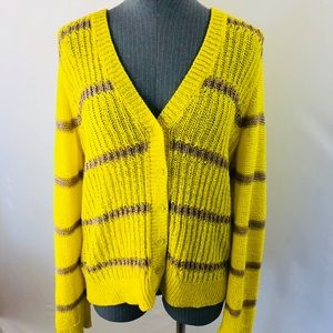 Ann Taylor LOFT Cardigan Sweater Open Knit  XL